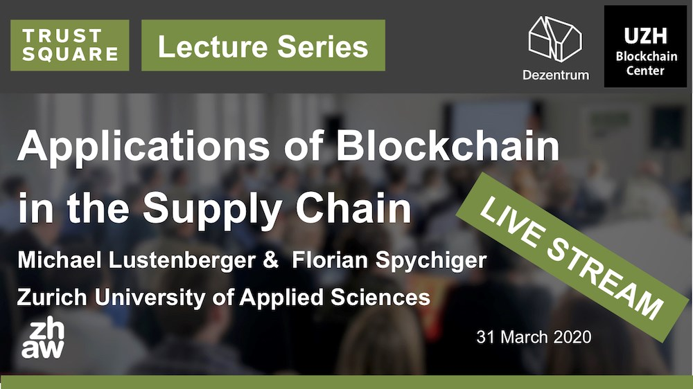 Applications of Blockchain in the Supply Chain