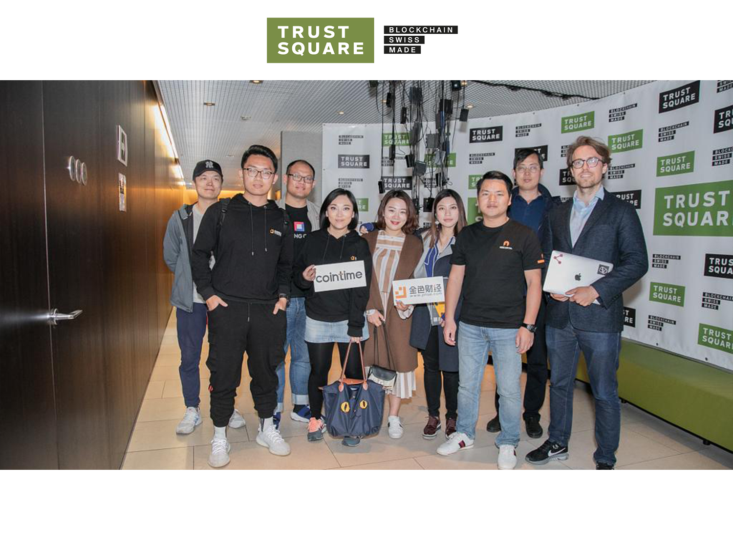 Chines blockchain industry representatives visting Trust Square